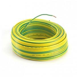 Cable Unip.  1mm Verd/amar Trefilcon