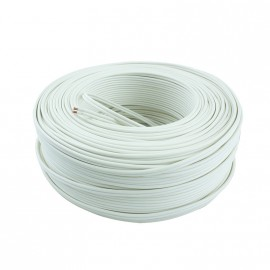 Cable Bip.  2x1mm Blanco Trefilcon R X 100