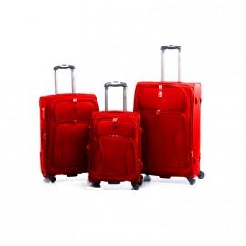 Valija Set X 3 - 4 Ruedas Flex. A/ 50 Rojo