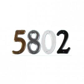 Numero Met. Negro 5  Sc