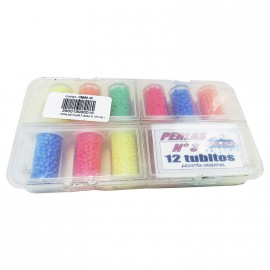 Perlas Plast.3mm X 12tub.aile