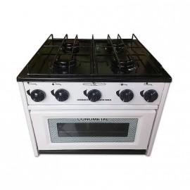 Cocina 4h C/horno S/valv. Seg. Quem. Enloz.