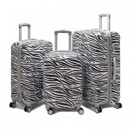 Valija Set X 3 - 4 Ruedas Rigida A/555 Cebra